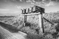 Briefkasten-Reihe Stockbild
