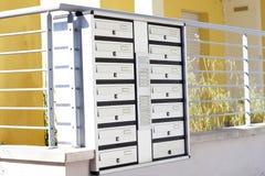 Briefkasten und Türklingel Stockfotografie