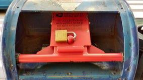 Briefkasten zugeschlossen, NYC, NY, USA Stockfotografie