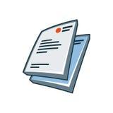Briefkopfikone in der Karikaturart Lizenzfreies Stockbild