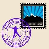 Briefmarke vektor abbildung