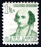 Briefmarke Albert Gallatins US stockbild
