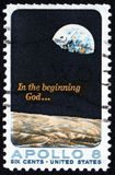 Briefmarke Apollo-8 USA 5c Lizenzfreie Stockbilder