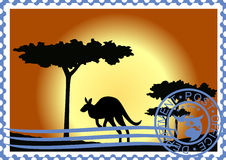 Briefmarke. Australien. Stockbild