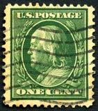 Briefmarke Benjamin Franklins US Lizenzfreies Stockfoto