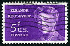 Briefmarke Eleanor Roosevelts USA Lizenzfreie Stockfotos