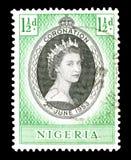 Briefmarke gedruckt durch Nigeria stockfotografie