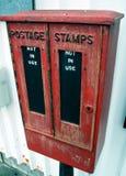 Briefmarke-Kasten Stockbild