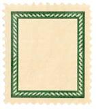 Briefmarke mit Feld Lizenzfreies Stockbild