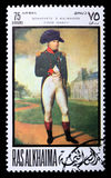 Briefmarke mit Napoleon Lizenzfreies Stockfoto