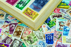 Briefmarken aus verschiedenen Ländern Stockbild