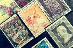 Briefmarken im Album Lizenzfreies Stockbild