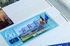 Briefmarken, 60. Jahrestag des Europäischen Rates Lizenzfreies Stockfoto
