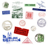 Briefmarken und Kennsätze aus Deutschland Stockfotos