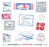 Briefmarken und Kennsätze von US lizenzfreies stockbild