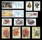 Briefmarken von der ehemaligen Sowjetunion Lizenzfreies Stockfoto