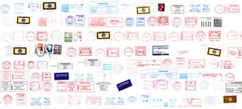 Briefmarken von der Welt lizenzfreie abbildung