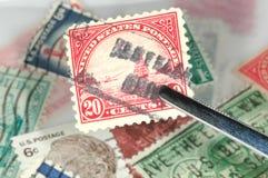 Briefmarkensammeln stockbilder