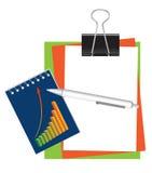Briefpapier für Büro und Schule vektor abbildung