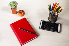 Briefpapier für Kreativität und Studie Stockfotografie