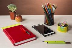 Briefpapier für Kreativität und Studie Lizenzfreies Stockfoto