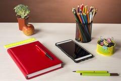 Briefpapier für Kreativität und Studie Lizenzfreies Stockbild