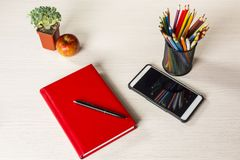 Briefpapier für Kreativität und Studie Lizenzfreie Stockfotos