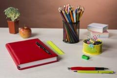 Briefpapier für Kreativität und Studie Stockbild