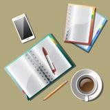 Briefpapier, mit ZeichnungsGeschäftsstrategie-Plankonzeptidee Lizenzfreies Stockfoto