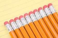 Briefpapier und Bleistifte Stockfotos