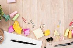 Briefpapier und Kunstkonzept Stockfoto