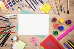 Briefpapier und Ziehwerkzeuge Lizenzfreie Stockbilder