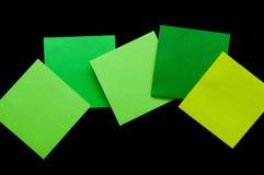 Briefpapierblatt des Isolats multi Farb Stockbilder