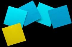 Briefpapierblatt des Isolats multi Farb Lizenzfreie Stockfotografie