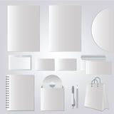 Briefpapierdesign, Unternehmensschablonen - Vektorsatz Stockfotos