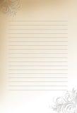 Briefpapierhintergrund Lizenzfreie Stockbilder