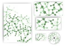 Briefpapiersatz für Ihr Design Stockfoto