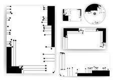 Briefpapiersatz für Ihr Design Lizenzfreie Stockfotografie