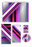 Briefpapiersatz für Ihr Design, buntes digitales Stockfotografie