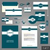 Briefpapierschablonendesign Stockbild