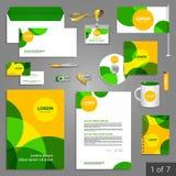 Briefpapierschablonendesign Stockbilder