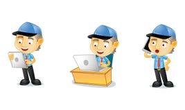 Briefträger 3 lizenzfreie abbildung
