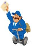 Briefträger auf dem segway Lizenzfreies Stockfoto