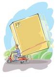Briefträger mit Kasten vektor abbildung