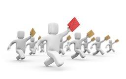 Briefträger rivalery - Postzustellung Lizenzfreies Stockfoto