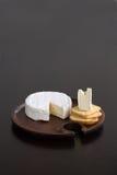 Briekäse und Cracker Stockbild