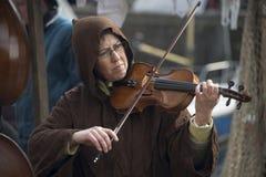 Leka fiol för kvinna Arkivbild