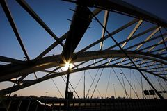 brienenoord моста Стоковая Фотография