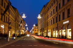 Brienner street in Munich Royalty Free Stock Images