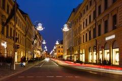 Briennerstraat in München Royalty-vrije Stock Afbeeldingen